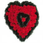 Coroana pin inima rosu C300