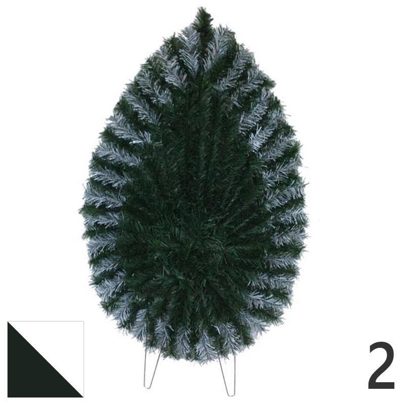 Coroana funerara artificiala plastic nr.2 verde cu alb var.2