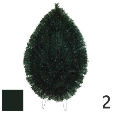 Coroana funerara artificiala plastic nr.2 verde inchis
