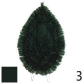 Coroana funerara artificiala plastic nr.3 verde inchis