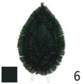 Coroana funerara artificiala plastic nr.6 verde inchis