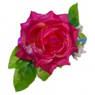 Trandafir cu frunze saten roz
