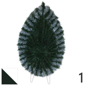 Coroana funerara artificiala plastic nr.1 verde cu alb var.2