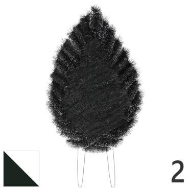 Coroana funerara pin nr.2 verde cu alb