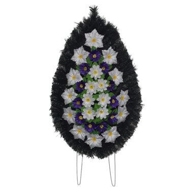 Coroana funerara cu flori nr.3 model 2
