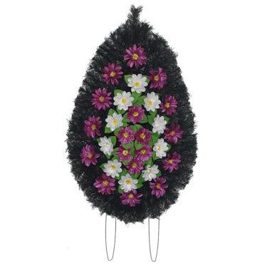 Coroana funerara cu flori nr.3 model 5