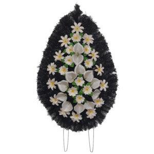 Coroana funerara cu flori nr.4 model 2