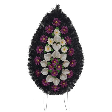 Coroana funerara cu flori nr.4 model 4