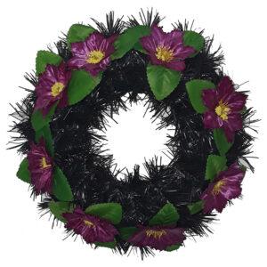 Coroana funerara rotunda cu flori model 10