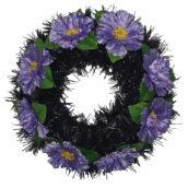 Coroana funerara rotunda cu flori model 9