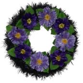 Coroana funerara rotunda cu flori nr.0 model 1