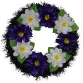 Coroana funerara rotunda cu flori nr.0 model 2