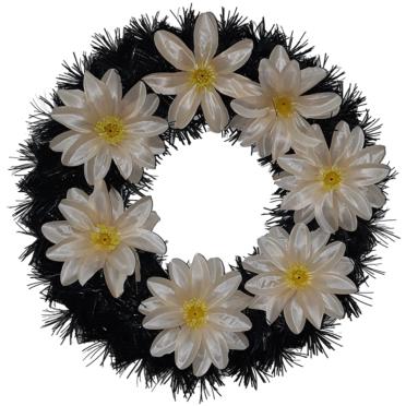 Coroana funerara rotunda cu flori nr.0 model 3