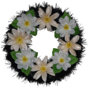 Coroana funerara rotunda cu flori nr.0 model 4