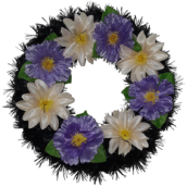 Coroana funerara rotunda cu flori nr.0 model 5