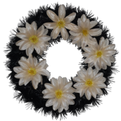 Coroana funerara rotunda cu flori nr.0 model 7