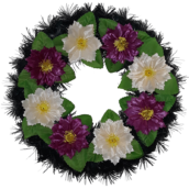 Coroana funerara rotunda cu flori nr.0 model 8