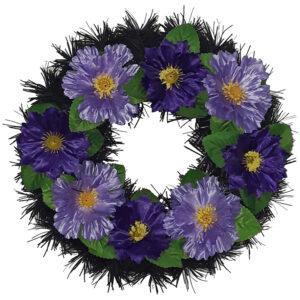 Coroana funerara rotunda cu flori model 3