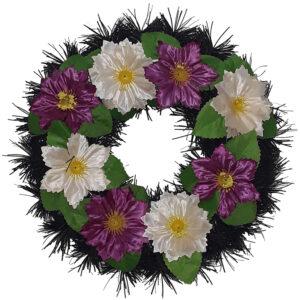 Coroana funerara rotunda cu flori model 4