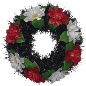 Coroana funerara rotunda cu flori model 5