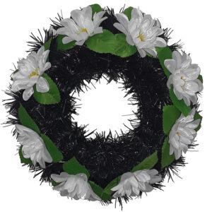 Coroana funerara rotunda cu flori model 6