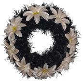 Coroana funerara rotunda cu flori model 7