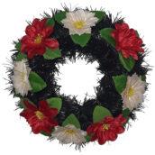 Coroana funerara rotunda cu flori model 8