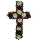 Cruce funerara cu flori model 1