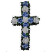 Cruce funerara cu flori model 2