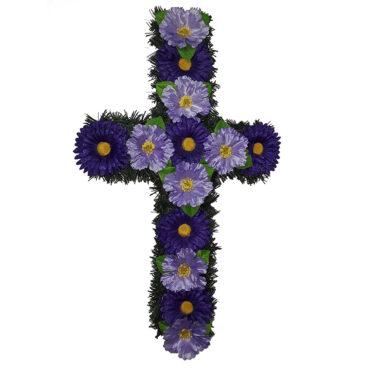 Cruce funerara cu flori model 3
