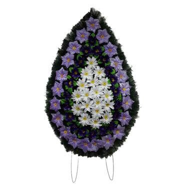 Coroana funerara cu flori nr.4,5 model 2