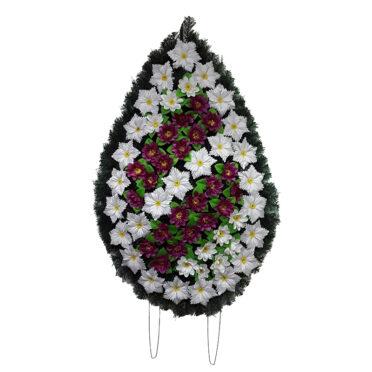 Coroana funerara cu flori nr.4,5 model 3