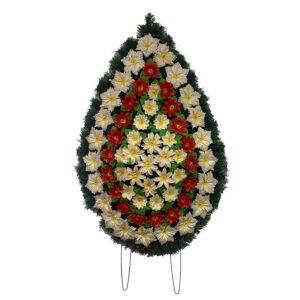 Coroana funerara cu flori nr.4,5 model 5