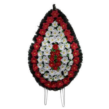 Coroana funerara cu flori nr.5 model 1