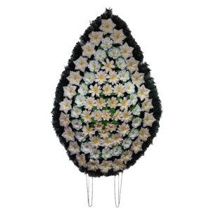 Coroana funerara cu flori nr.5 model 2