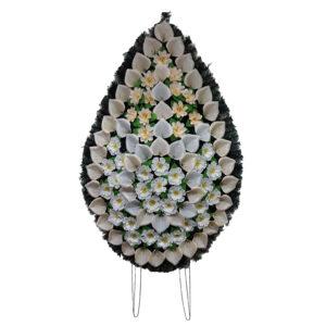 Coroana funerara cu flori nr.5 model 4