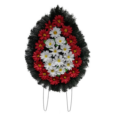 Coroana funerara cu flori nr.2 model 1