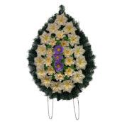 Coroana funerara cu flori nr.2 model 3