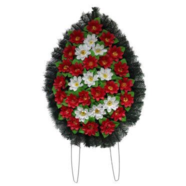 Coroana funerara cu flori nr.2 model 4
