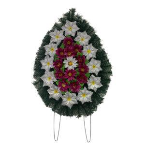 Coroana funerara cu flori nr.2 model 5